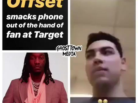 Offset smacks phone out of hand of fan at Target