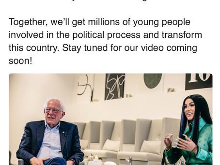 Bernie Sanders & Cardi B Collab On 2020 Campaign Video