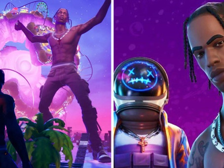 "TRAVIS SCOTT BREAKS STREAMING RECORDS WITH HIS ""FORTNITE"" CONCERT"