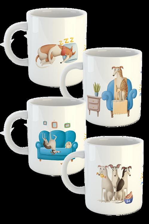 Signature Greyhound Mugs