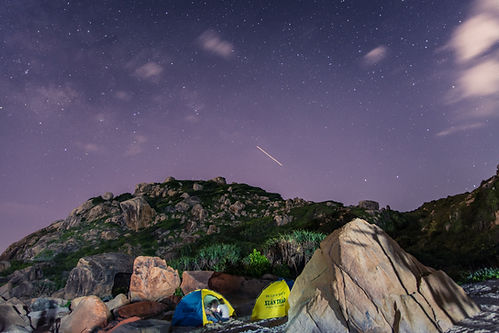 Camping in Mountains