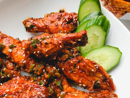 Baked Gochujang Chicken Wings