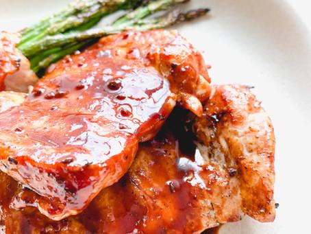 Grilled Bulgogi Chicken Thighs