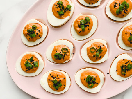 Deviled Eggs with Gochujang