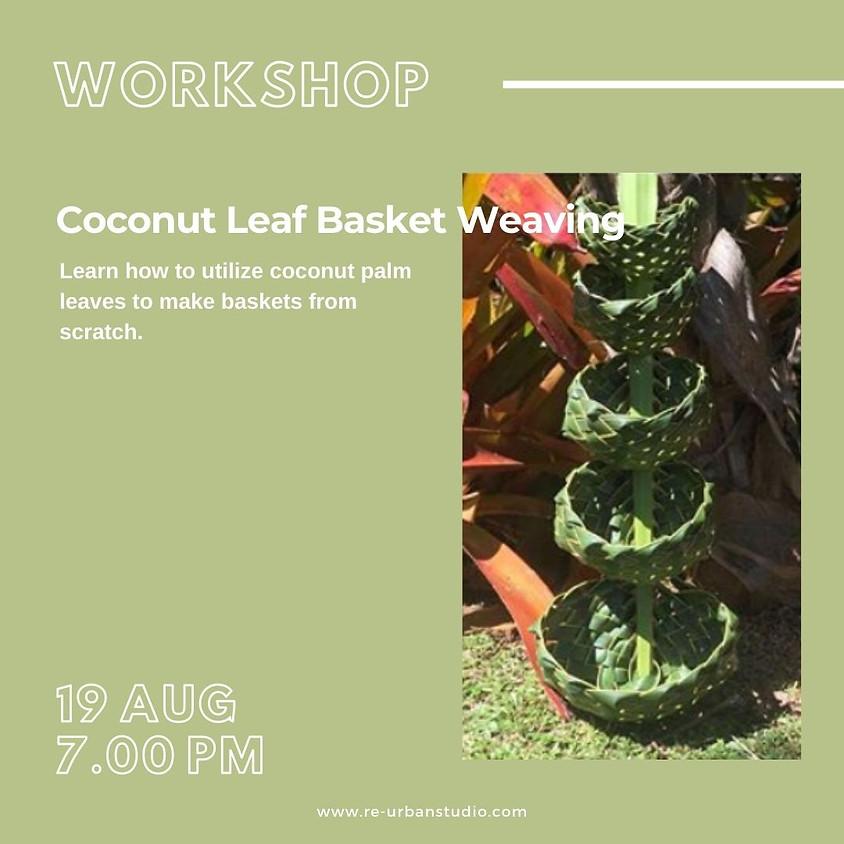 Coconut Leaf Basket Weaving