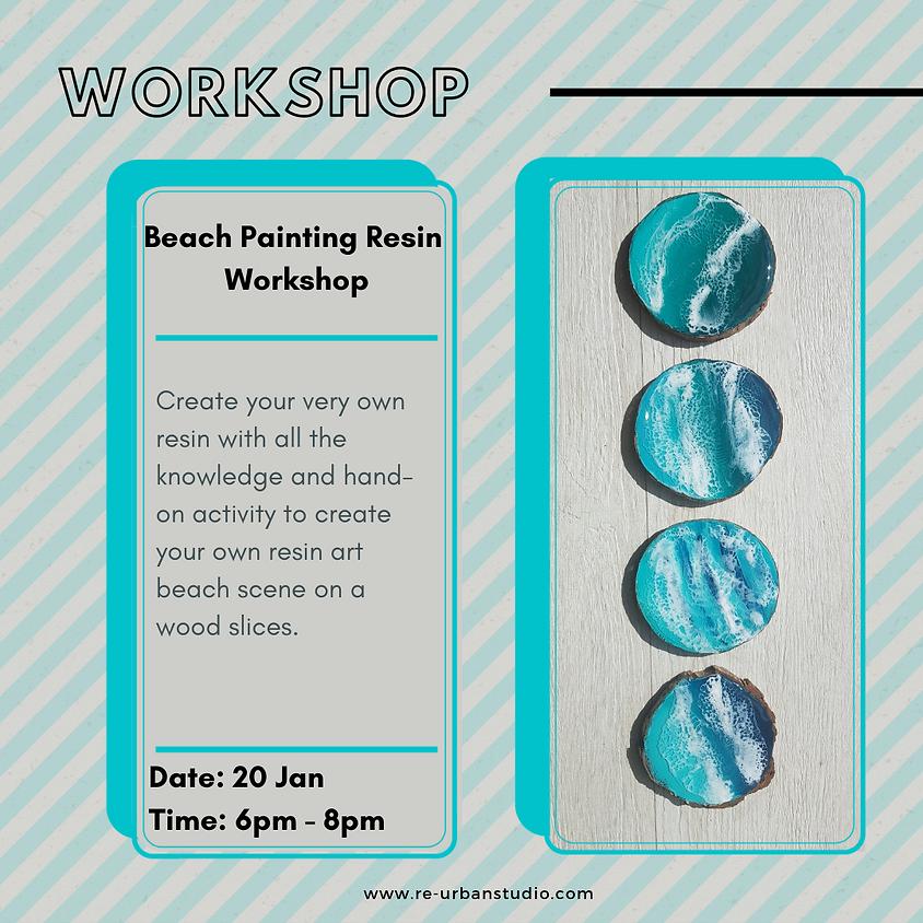 Beach Painting Resin Workshop
