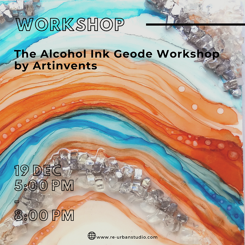The Alcohol Ink Geode Workshop