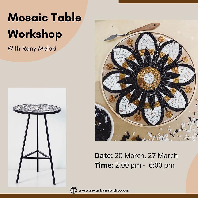Mosaic Table workshop