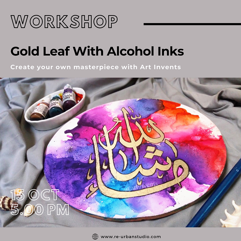Gold Leaf With Alcohol Inks
