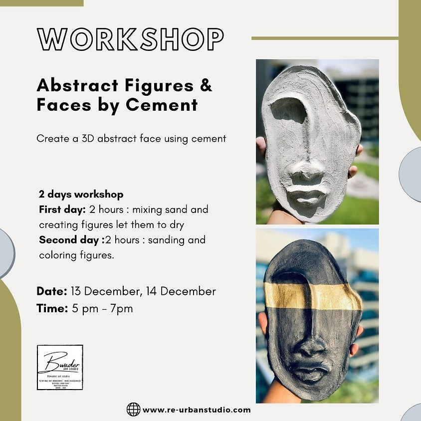 Abstract Figures & Faces by Cement