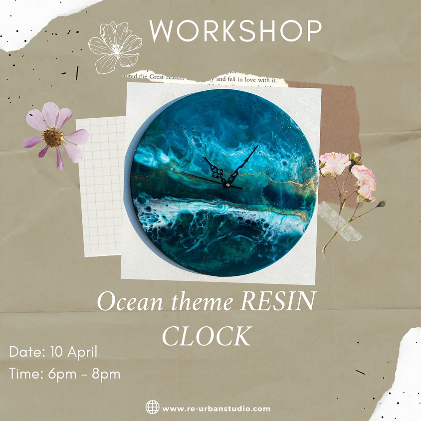 Resin Art Clock  Workshop