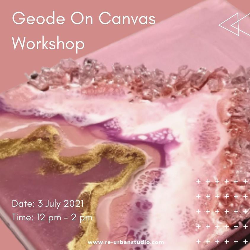 Geode On Canvas  Workshop