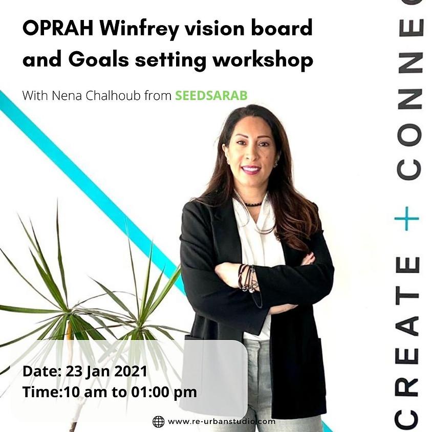 Oprah Winfrey vision board and goals setting workshop #3