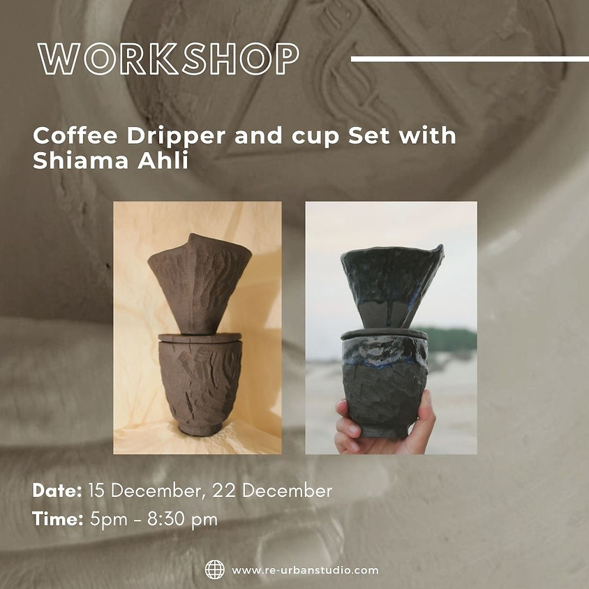 Coffee dripper and cup set with Shaima Ahli