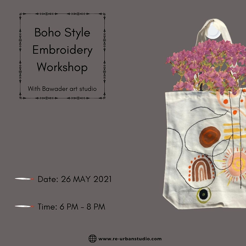Boho Style Embroidery Workshop