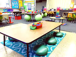 "Flexible Seating is perfect for kiddos of all ages. It is simply developmentally impossible for some students to ""sit quietly in rows"" all day."