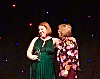 Receiving my AMLE award