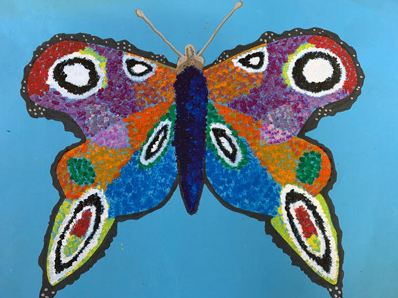 Pointelism Butterfly