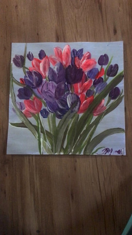 Flowers in a square