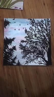 Acrylic scene