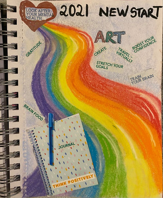 New Year 2021 - new year, new start - a chance to journal and think about what I want to do the coming year........
