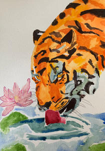 Tiger in watercolours