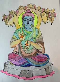 Colouring In Bhudda