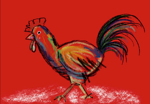 Hen from the farm