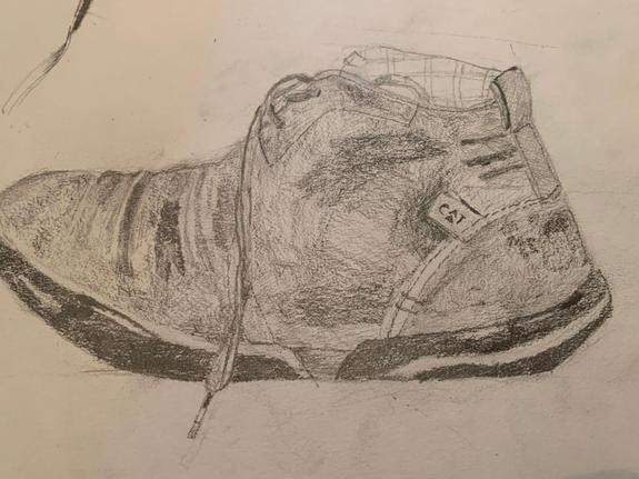 Gary's shoe