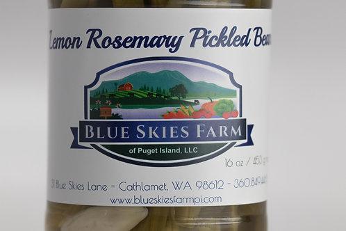 Lemon Rosemary Pickled Beans