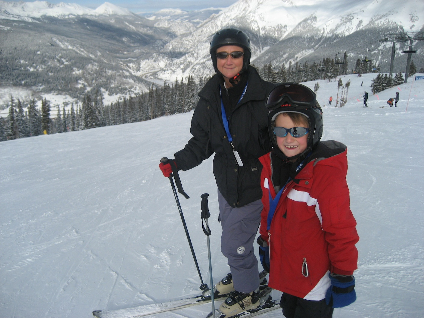 Skiing with my son!
