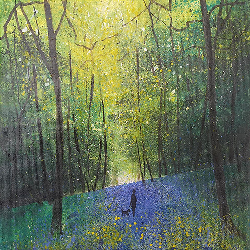 Seasons - Spring Bluebell Stroll with dog