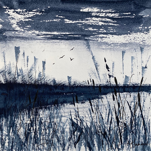 Monochrome - Reeds & Rushes