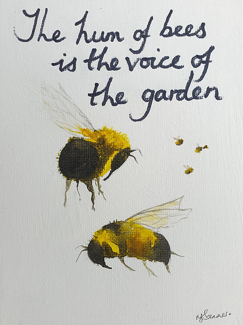 The hum of Bees.....