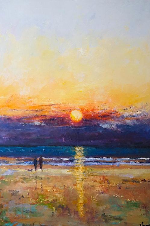 Sunset Beach Stroll Large