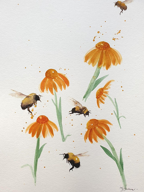 Bees & Marigolds