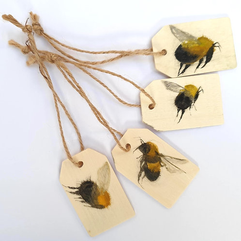Hand painted Watercolour Bee Gift Tags