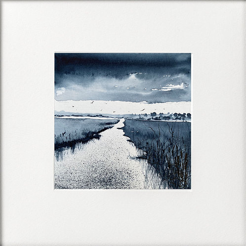 Monochrome - Sparkle on the water, Marshes