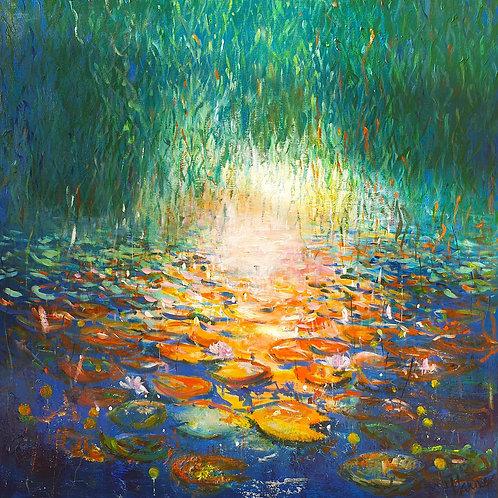 Vibrant Impressionist Waterlilies