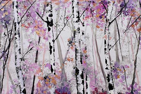 Violet Silver Birches