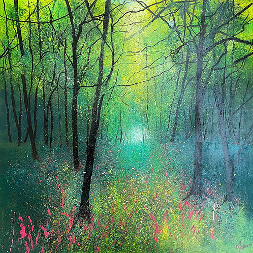Seasons - Spring Woodland with Foxgloves