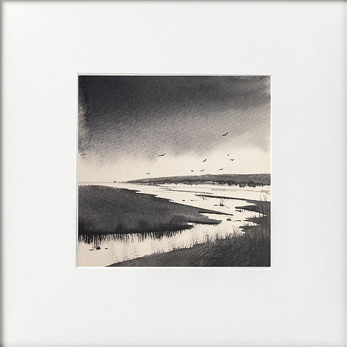 Monochrome - Shifting Rainclouds, Estuary