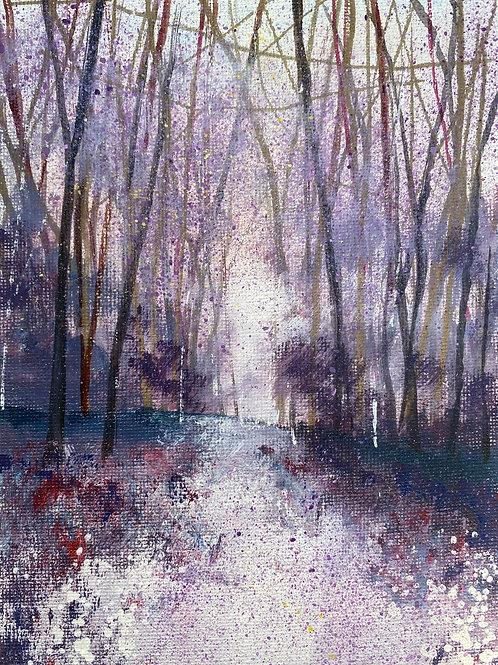 Misty Violet Woodland View