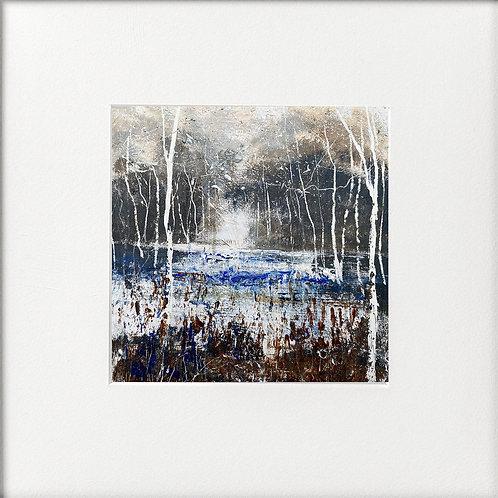 Seasons - Winter Silver Birches by Lake