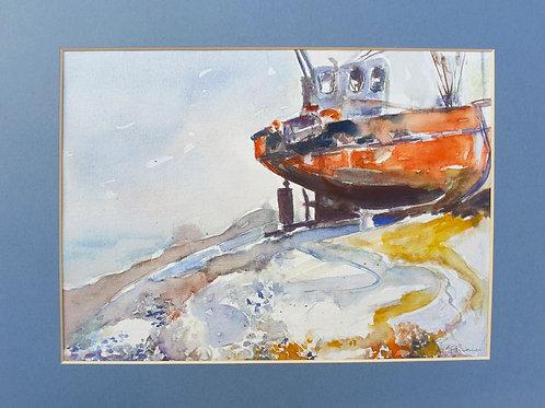Beached Trawler Boat
