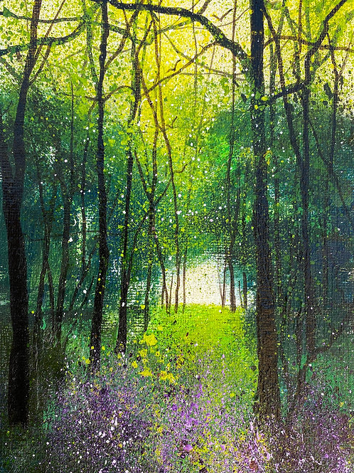Seasons - Spring woodland with violet Milkmaids