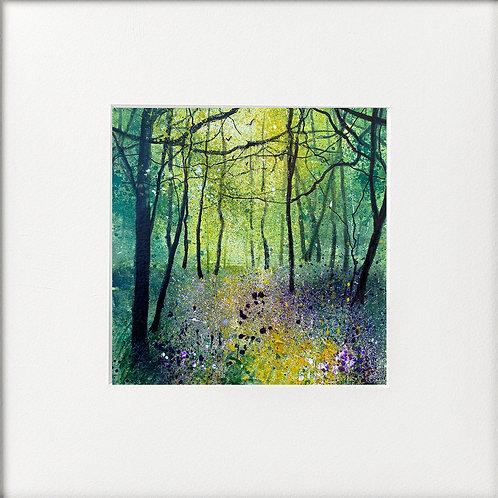 Seasons - Spring Violet & Yellow Wildflower Woodland