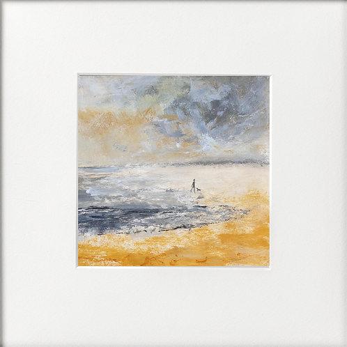 Grey day on beach