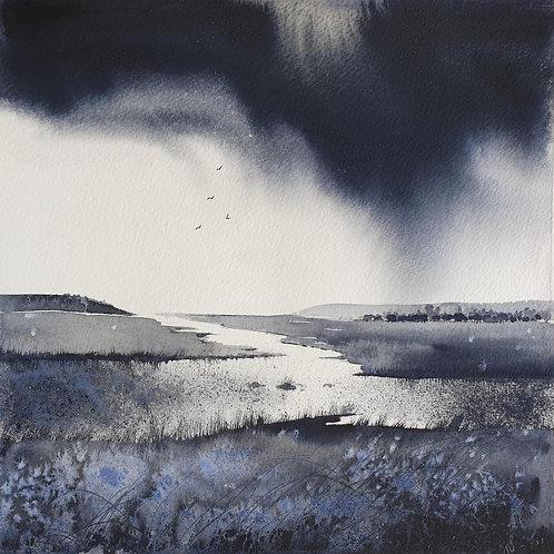 Monochrome - Estuary Rainstorm