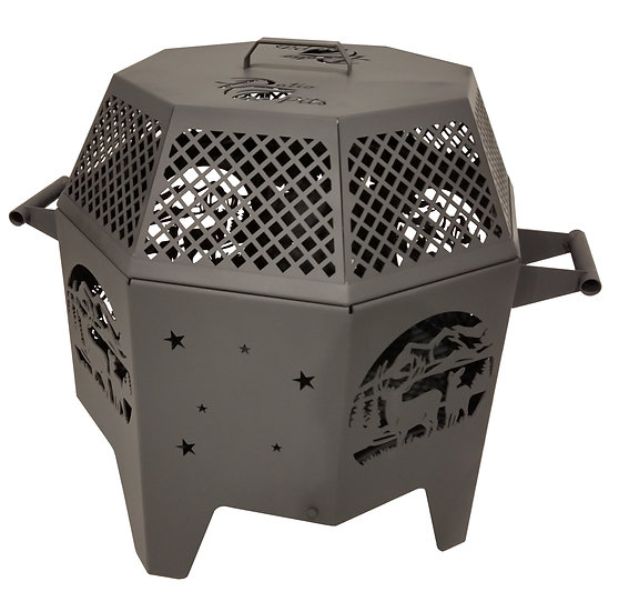 Octagon Fire Pit & Mesh Cover